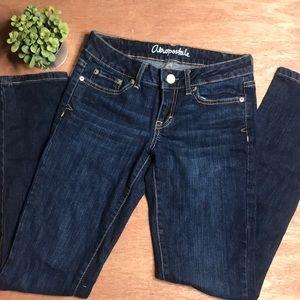 Aeropostale Bayla Skinny Dark Denim Jeans